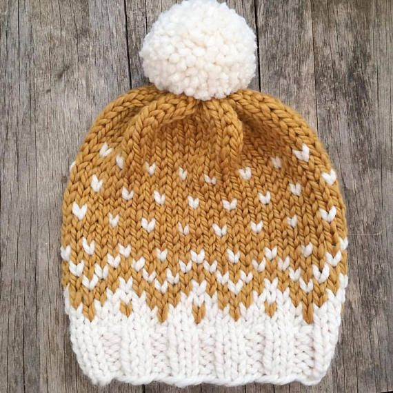KNITTING PATTERN ONLY ** to knit a Mountain Toque Sizes: Baby ages ...