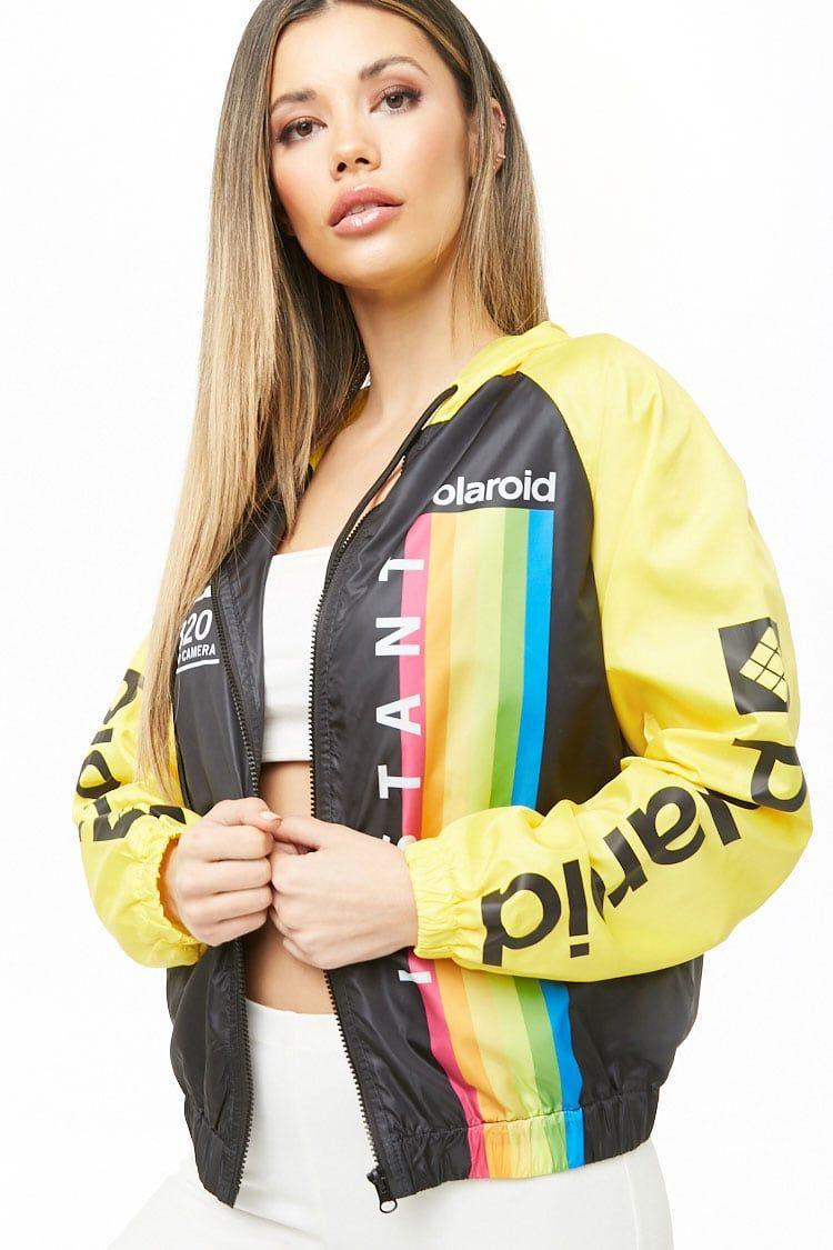 Polaroid Colorblock Windbreaker Forever 21 Windbreaker Coats Jackets Women Jackets [ 1125 x 750 Pixel ]