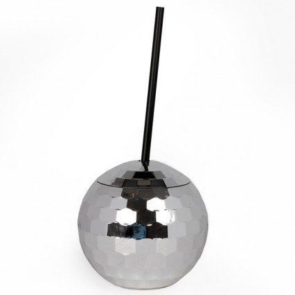 Disco Ball Cup - Silver - funky drinking cup - Temerity Jones