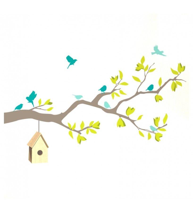 Inicio stickers sticker vinilo rama de arbol con - Ramas de arboles ...