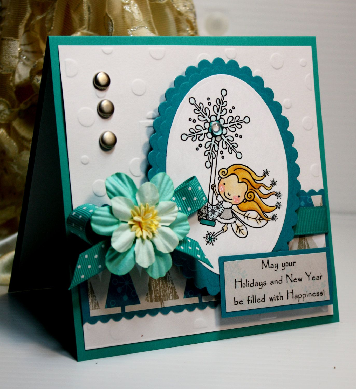 Christmas Card Handmade Greeting Card May Your Holidays And New