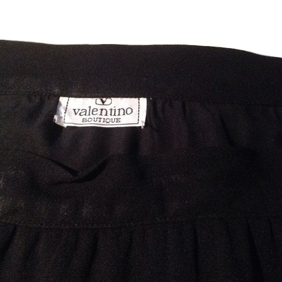 Valentino Wool Long Black Skirt by LaCroisette on Etsy