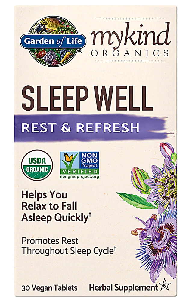 Garden Of Life Mykind Organics Sleep Well Rest Refresh 30