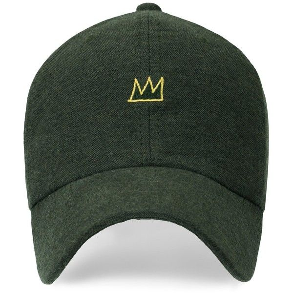 6cfecebb Jean Michel Basquiat Crown Embroidery Baseball Cap Cotton Strapback...  ($16) ❤ liked on Polyvore featuring accessories, hats, trucker cap, ball cap,  ...
