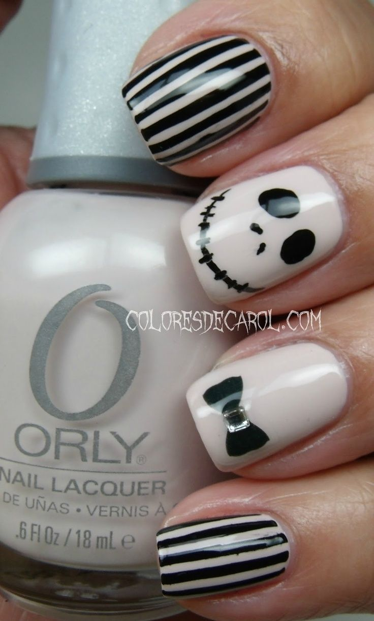 nails the nightmare before christmas | Makeup & Nails | Pinterest ...