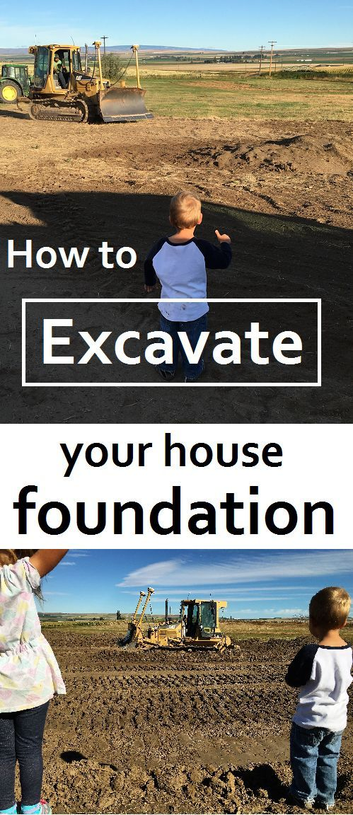 Excavate your own house foundation and save $11,000 better yet, build your own house and save over $100,000