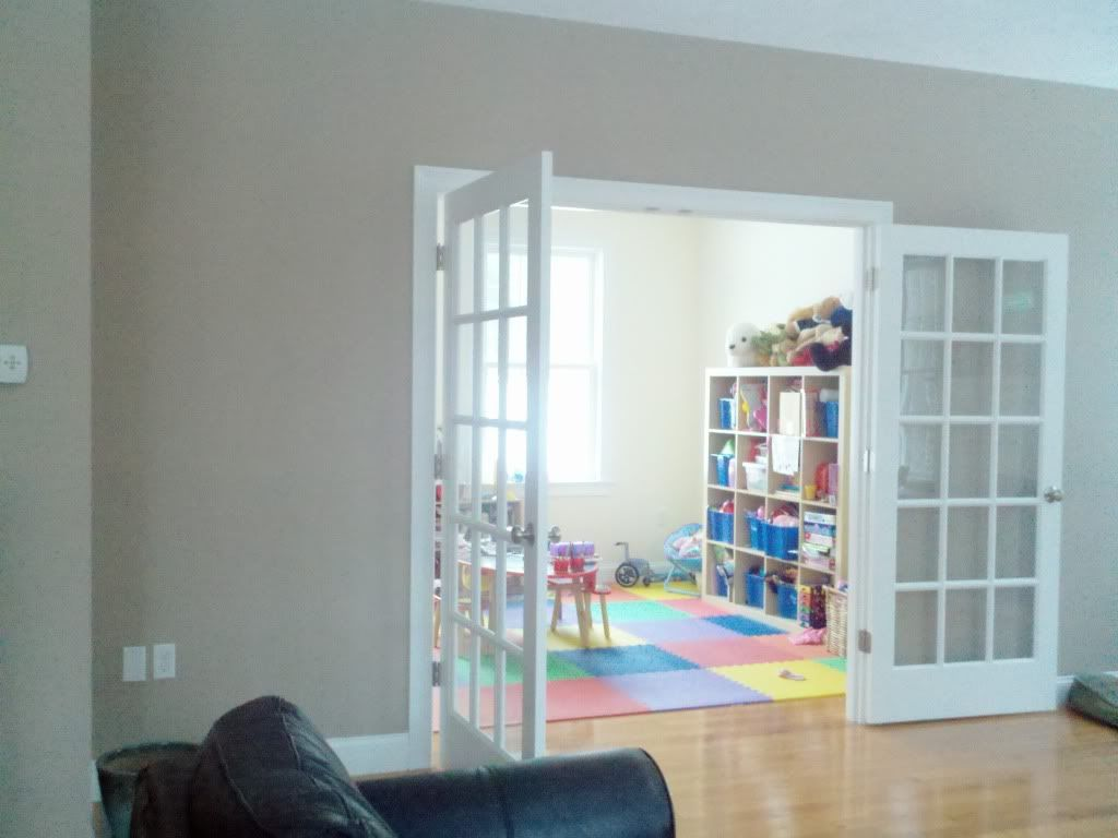 French door idea for entry to playroom. Might help keep it quieter in the house & French door idea for entry to playroom. Might help keep it quieter ...