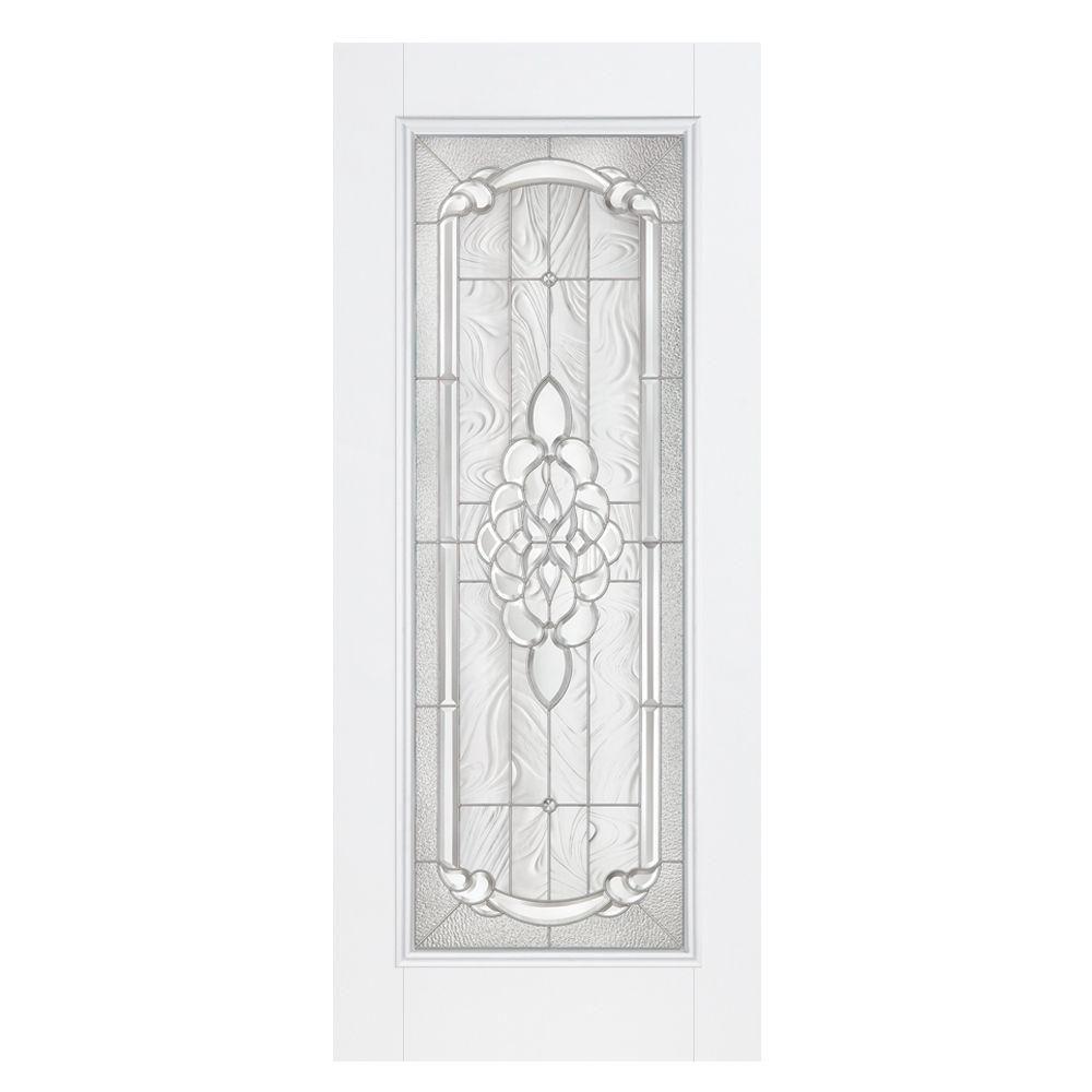 ... Exterior Full Lite Fiberglass Door #35   Oakville Full Lite Primed  Smooth Fiberglass Prehung Front ...
