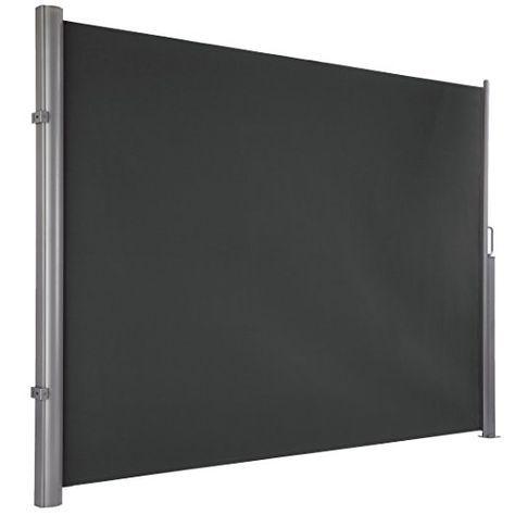 Sichtschutz Seitenmarkise grau 300 x 180 cm. Sichtschutz