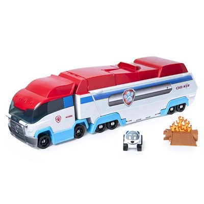 Paw die cast launch & hauler - Paw patrol, Diecast cars, Diecast, Paw patrol vehicles, Lifted cars, Rescue vehicles -  Launch and race to the rescue with the PAW Patrol Launch'N Haul PAW Patroller! This fan favorite team vehicle opens up, transforming into an actionpacked track set for the PAW Patrol's True Metal vehicles (each sold separately)! With storage room inside for up to seven True Metal collectible vehicles, it's easy to load up the pups and roll onto exciting rescue missions  Kids can unfold the PAW Patroller to discover a track set with rescues to save the day, just like the hit TV show! This set includes an exclusive Robodog 155 scale metal diecast vehicle! The fire needs to be put out; Robodog needs a tuneup; and a bear is trapped under fallen rocks! With three exciting rescue missions to complete, race to the rescue with the transforming 2in1 PAW Patrol Launch'N Haul PAW Patroller!