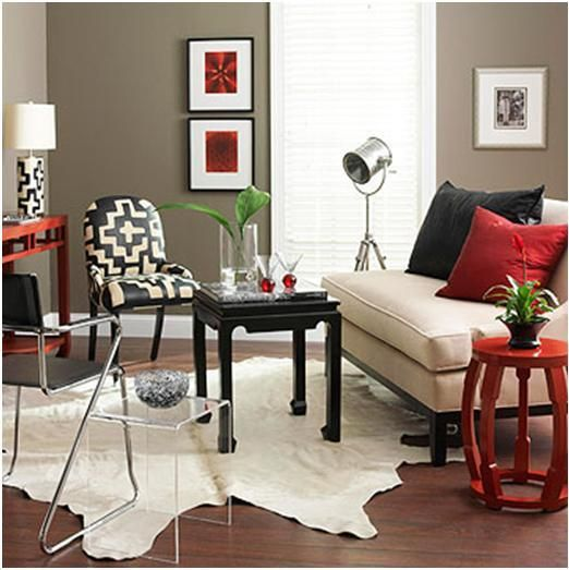 Black, red, and taupe color scheme | Bedroom Ideas | Pinterest ...