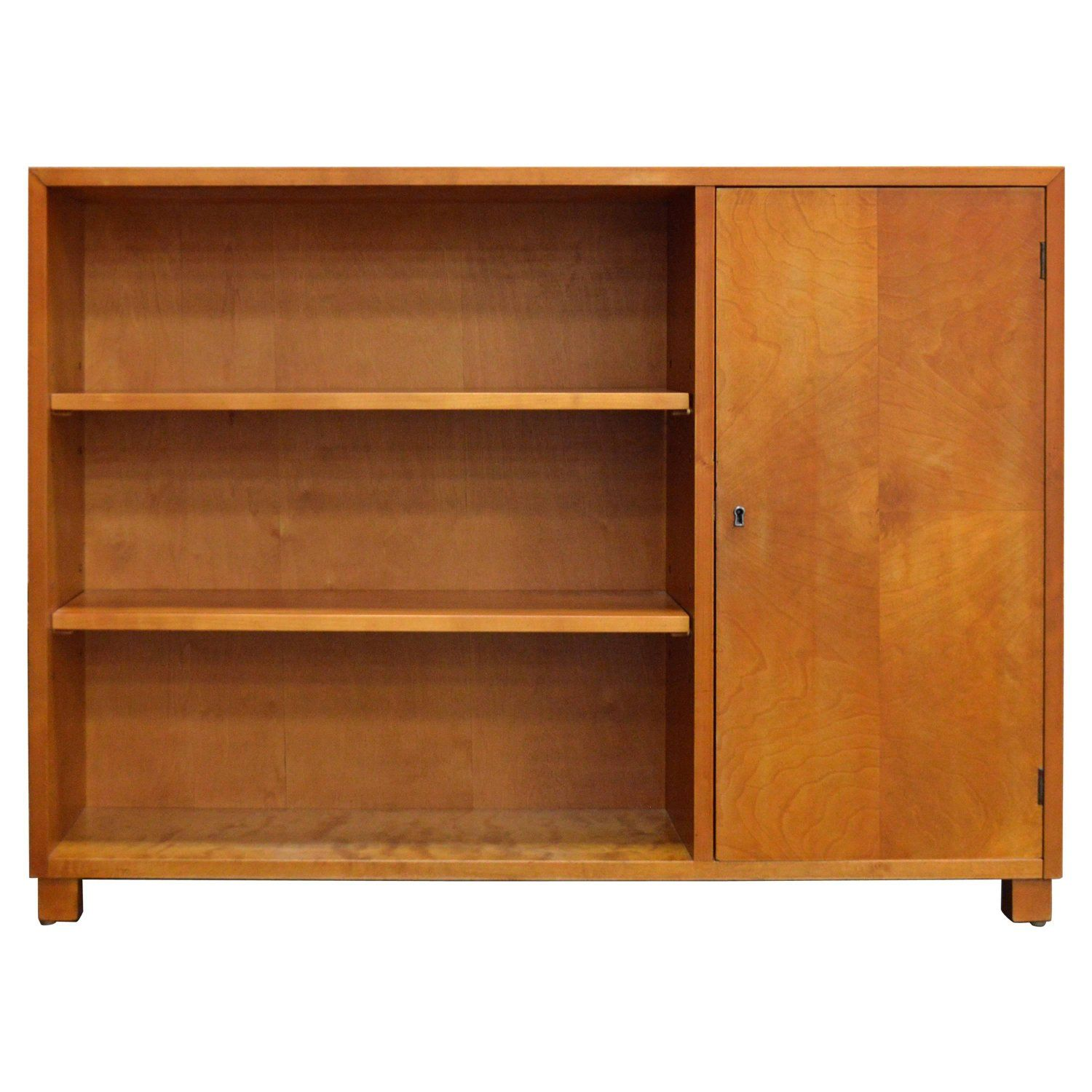 Swedish Art Deco Functionalist Golden Birch Cabinet ...