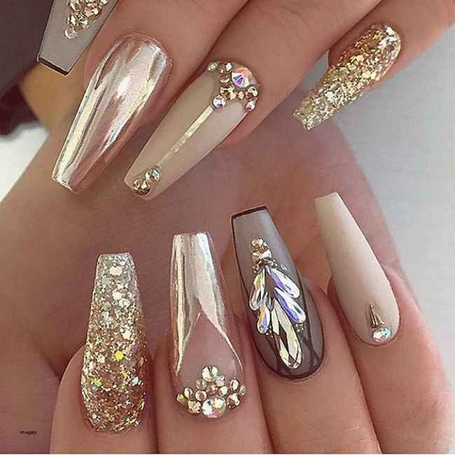 How To Remove Acrylic Nails Painlessly With Acetone At Home Remove Acrylic Nails Gold Chrome Nails Coffin Nails Designs