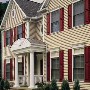 Best Burgundy Shutters With Images Siding Colors For Houses 400 x 300