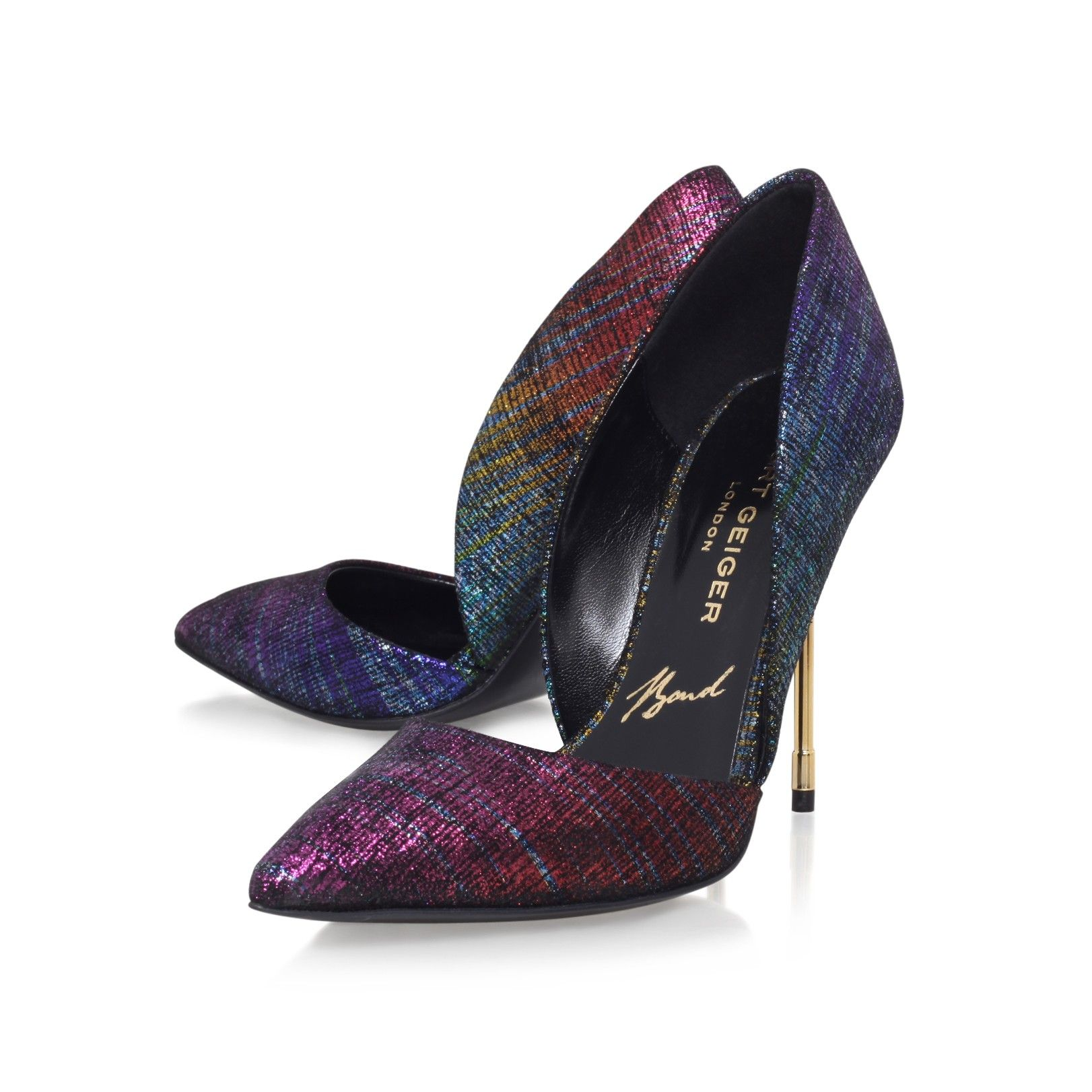 bond multi coloured high heel court shoes from Kurt Geiger London