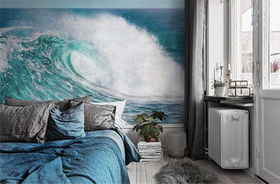 The Great Wave Wallpaper Oil Painting Effect Wall Mural Epic Sea