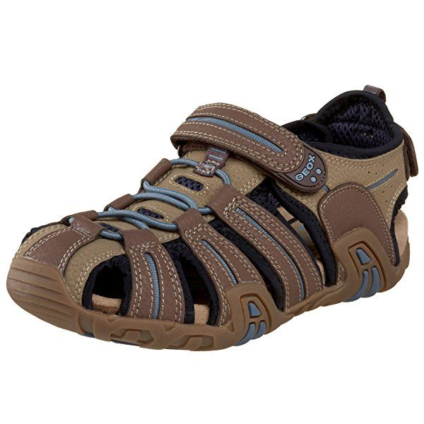 Geox ToddlerLittle Kid Jr Kraze Sandal,BrownSky