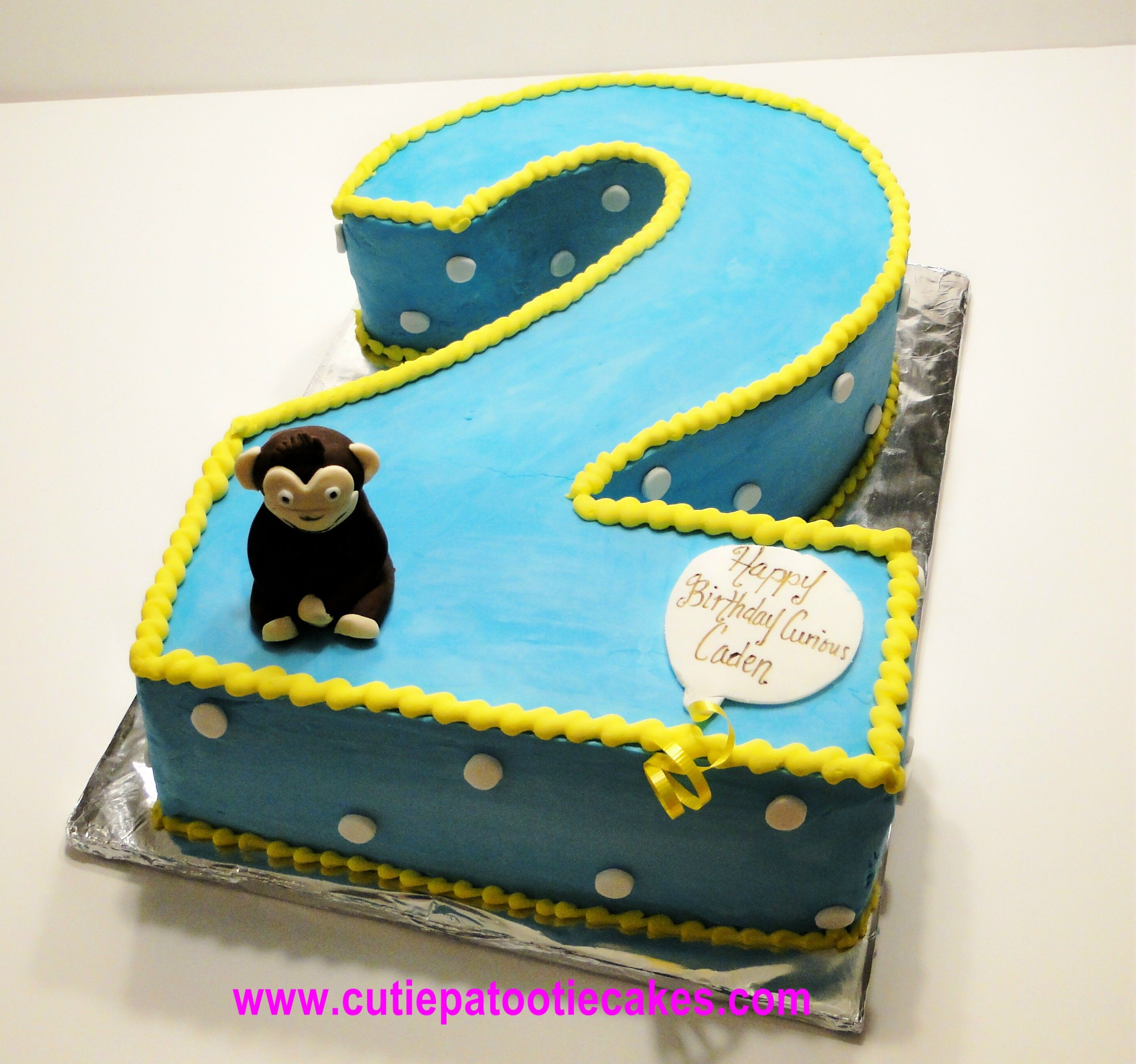 Happy 2nd Birthday Curious George Cake