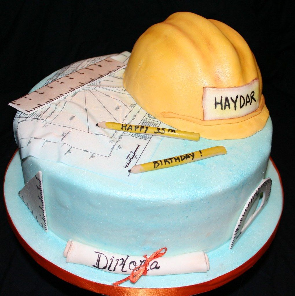 Graduation Cake For Civil Engineer The Cake Boutique Graduation Cakes Elegant Birthday Cakes Construction Birthday Cake