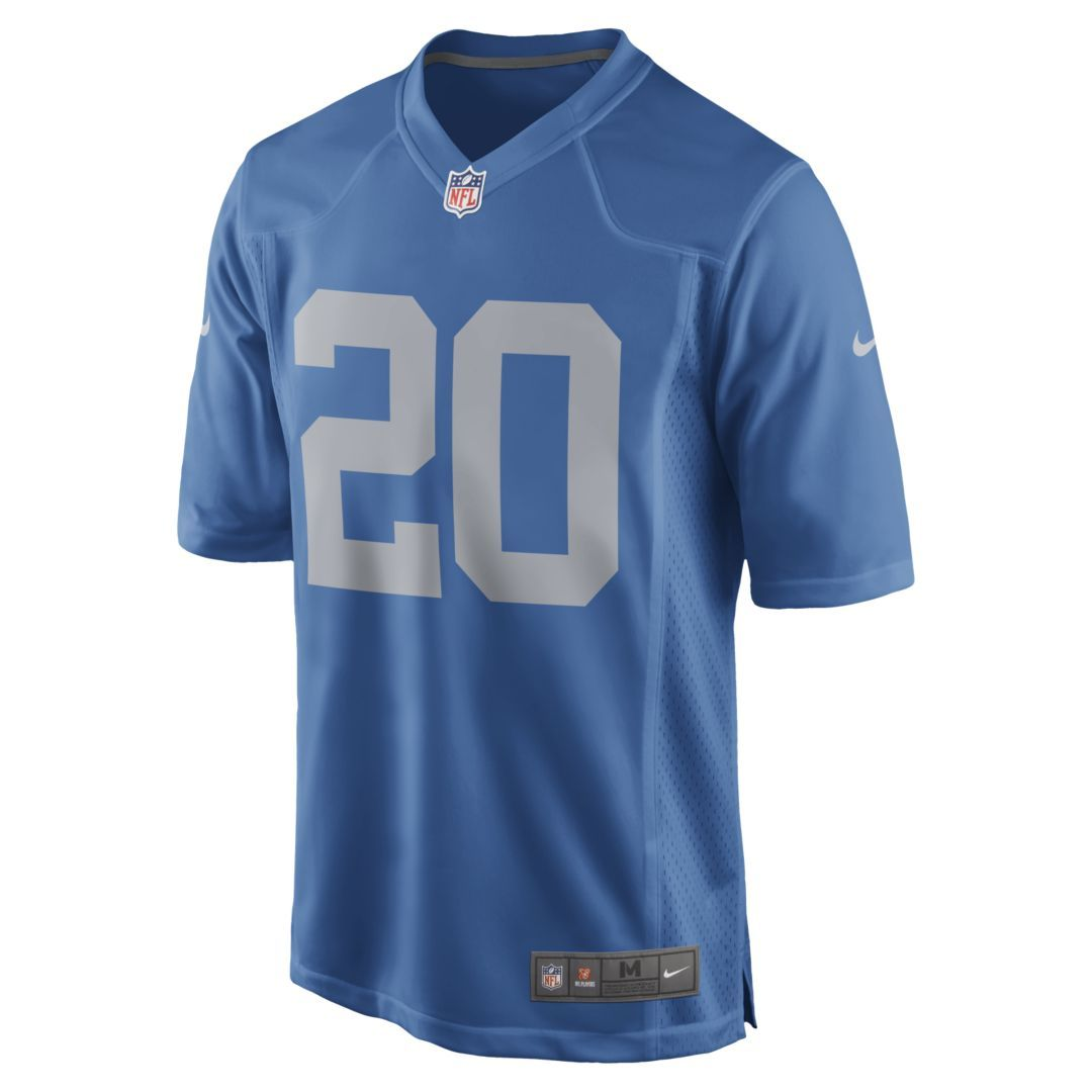 buy popular d86f7 5ca87 NFL Detroit Lions Game (Barry Sanders) Men's Football Jersey ...