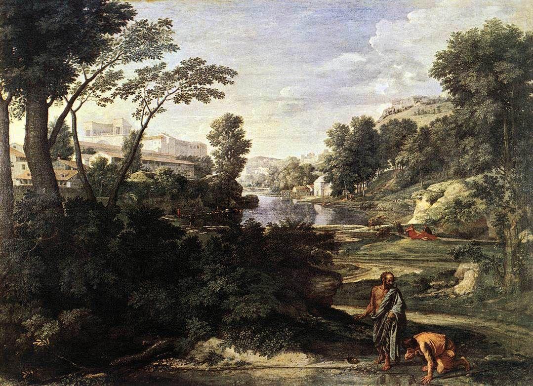 Landscape with Diogenes by Nicolas Poussin Nicolas
