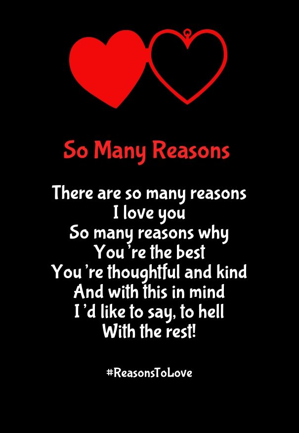 5 Reasons Why I Love You Quotes : reasons why i love you poem Romantic Poems for Her Pinterest ...