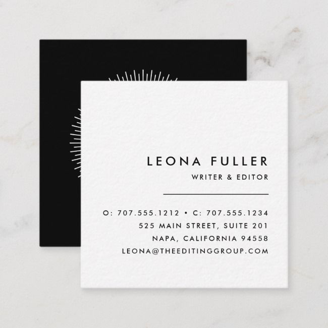 Add Your Logo Modern Black And White Square Business Card Zazzle Com Square Business Cards Square Business Card Modern Logo