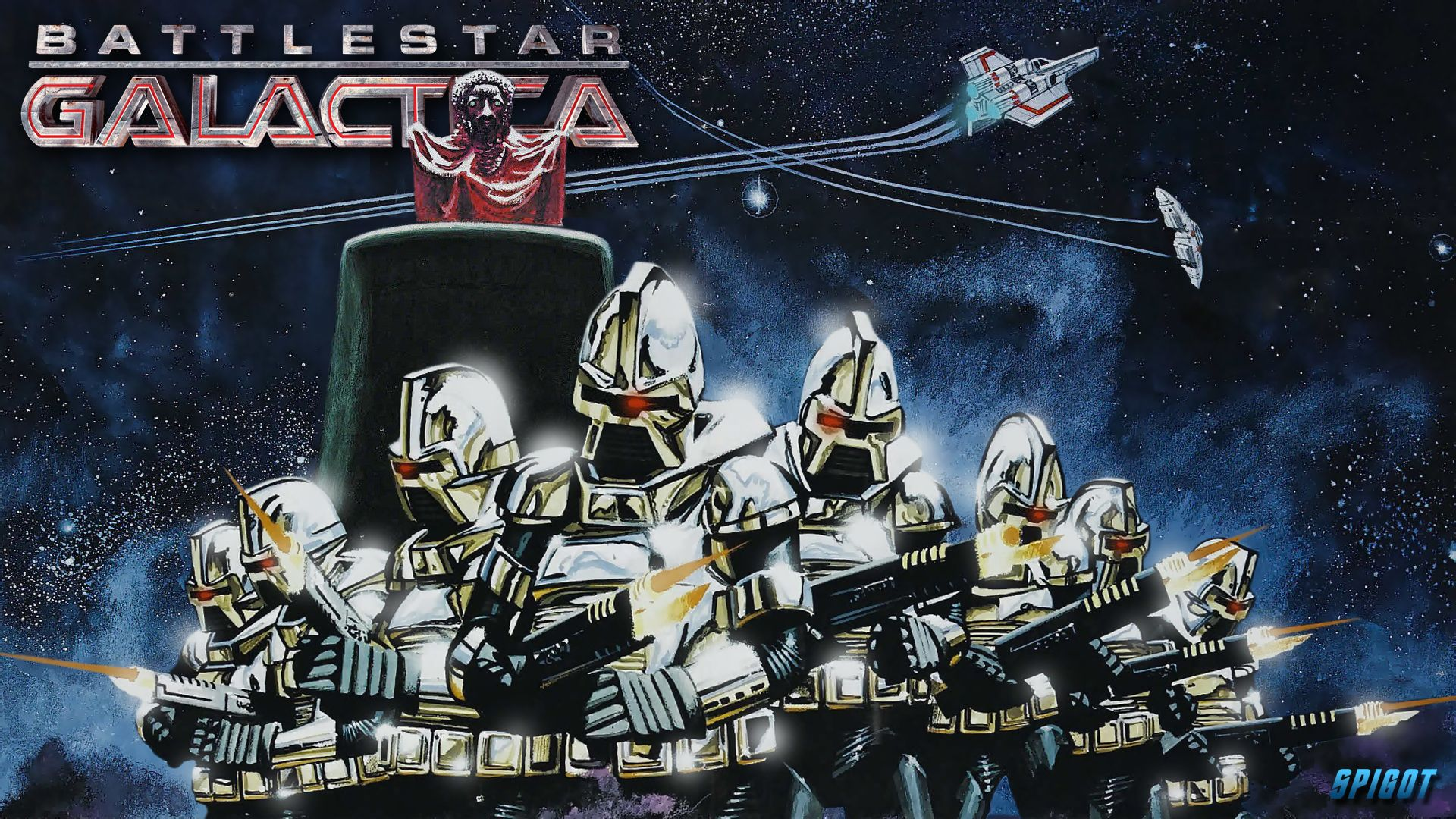 Classic Battlestar Galactica Wallpaper
