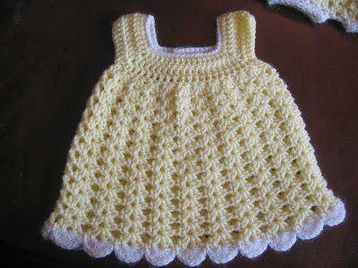 BLURT Blogger: Free Easy Baby Sundress & Bloomers Pattern | Crochet ...