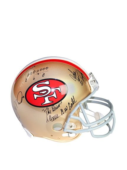 b5d7334ff Steiner Sports Memorabilia Joe Montana   John Taylor Dual Signed San  Francisco 49ers Replica Helmet at