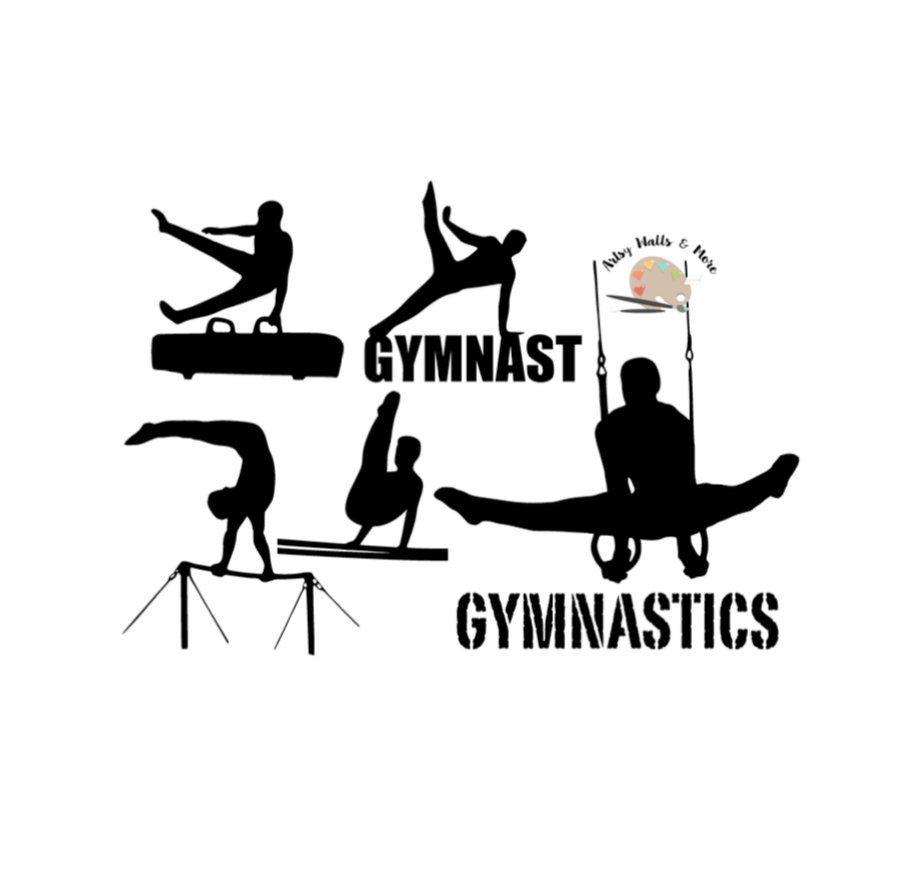 Male Gymnastics svg cut file male gymnast silhouette ...