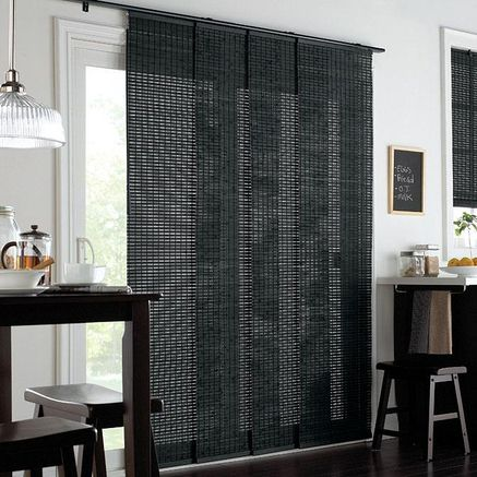Whole Home 174 Md Woven Bamboo Panel Track Window Covering