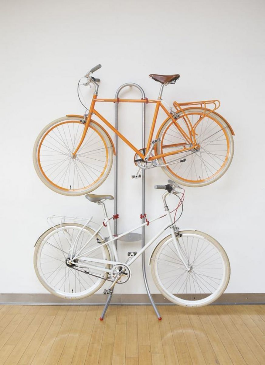 Look jeremy s bicycle rack apartment therapy - 7 Stylish Ways To Store Your Bike Inside More