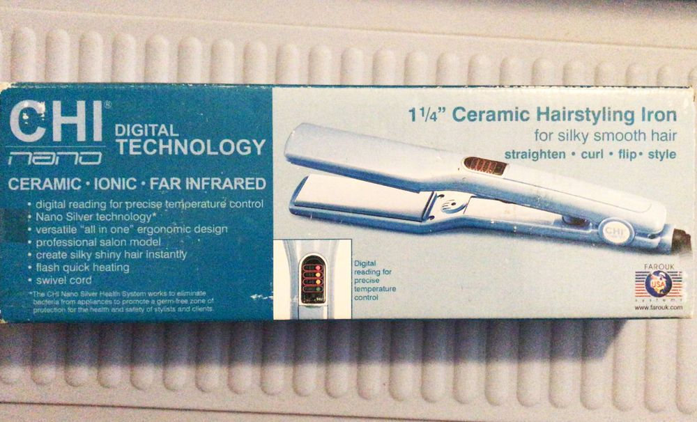 Farouk Chi 1 1 4 Ceramic Hair Styling Flat Iron With Digital Nano Technology Chi Ceramic Hair Silky Shiny Hair Hair Styles