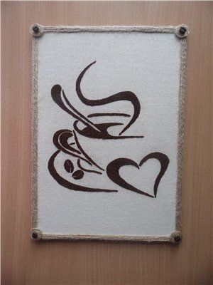 Картина из молотого кофе своими руками