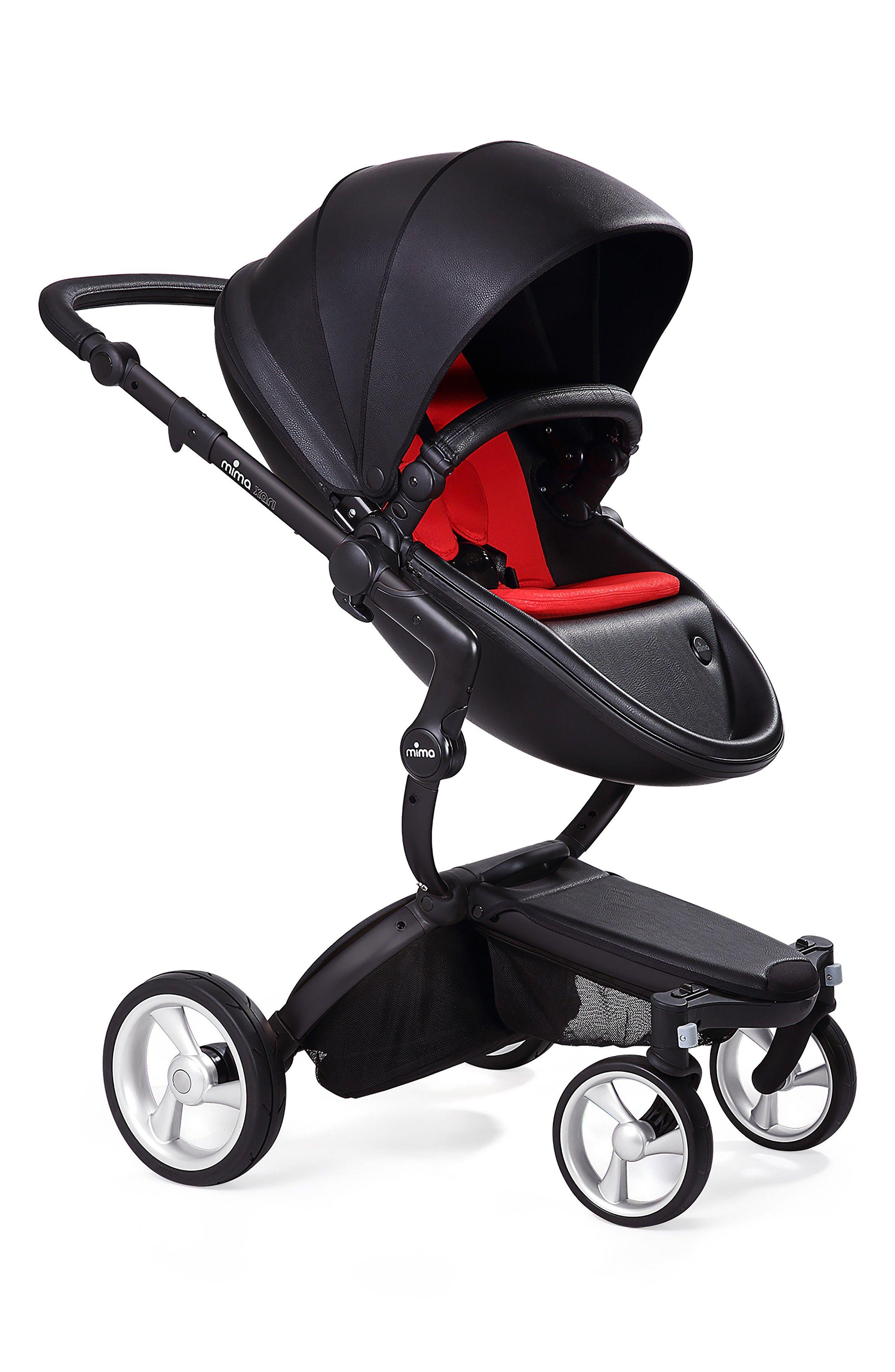 Main Image - Mima Xari Black Frame Stroller with Reversible ...