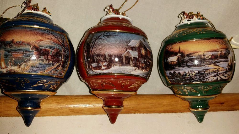 terry redlin christmas ornaments