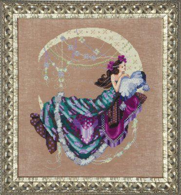 Moon Flowers by Mirabilia- Cross Stitch Pattern