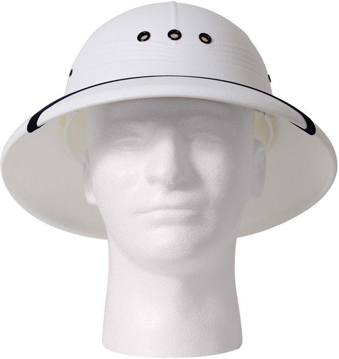3bcd5a314fe05 White Vietnam Style Light-Weight Safari Pith Helmet