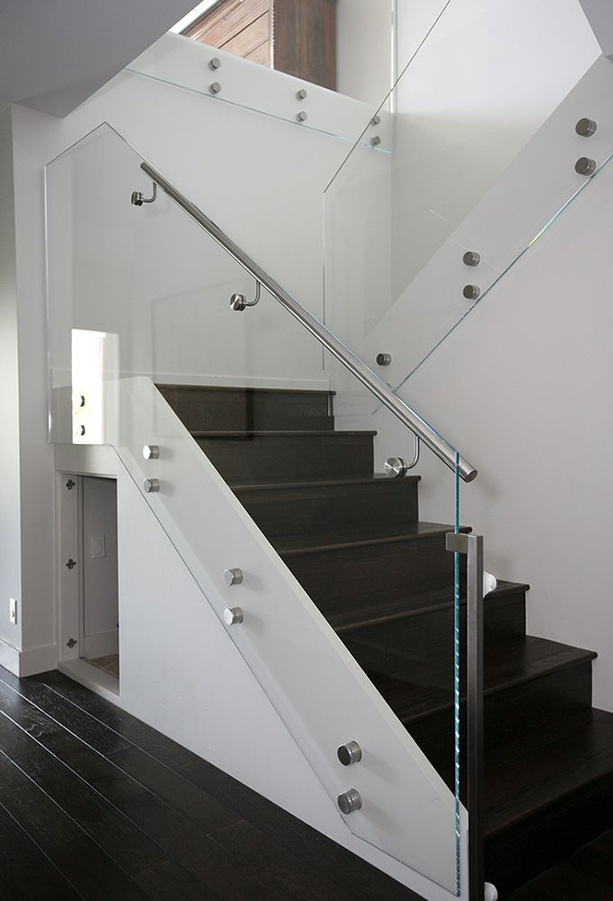 Best Modern Staircase Glass Side Rail With Floating Railing 400 x 300
