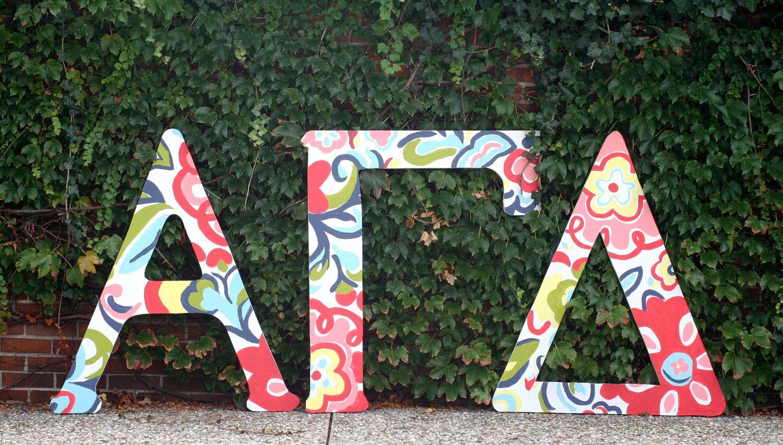 Large Greek Wooden Letters Alpha Gamma Delta Delta Zeta Crafts