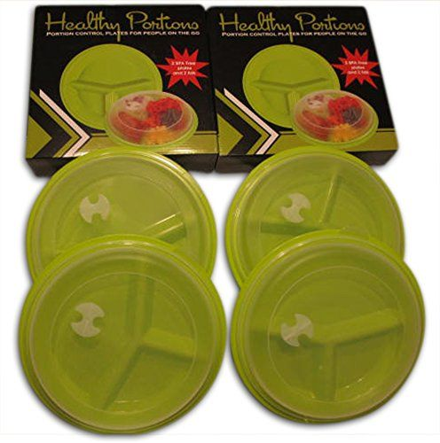 Healthy Portions Diet Control Plates- (4 Pack) - Innovati...