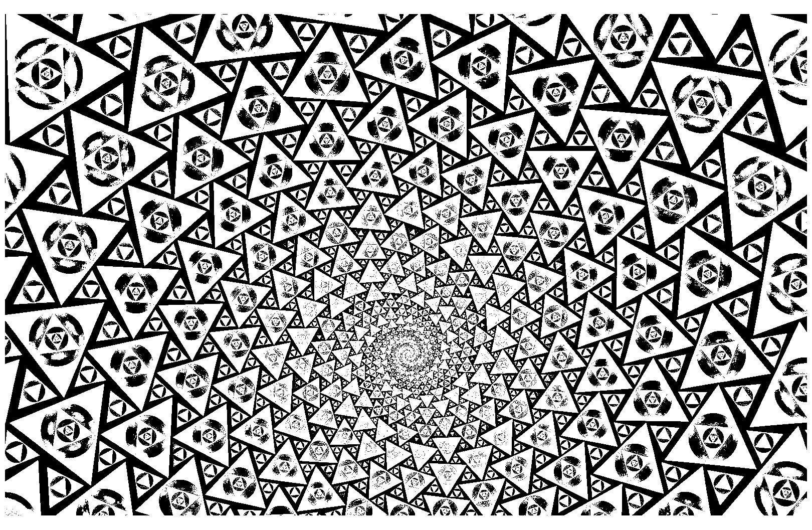 Colorear para adultos : Psychedelic - 9Desde la galería ...