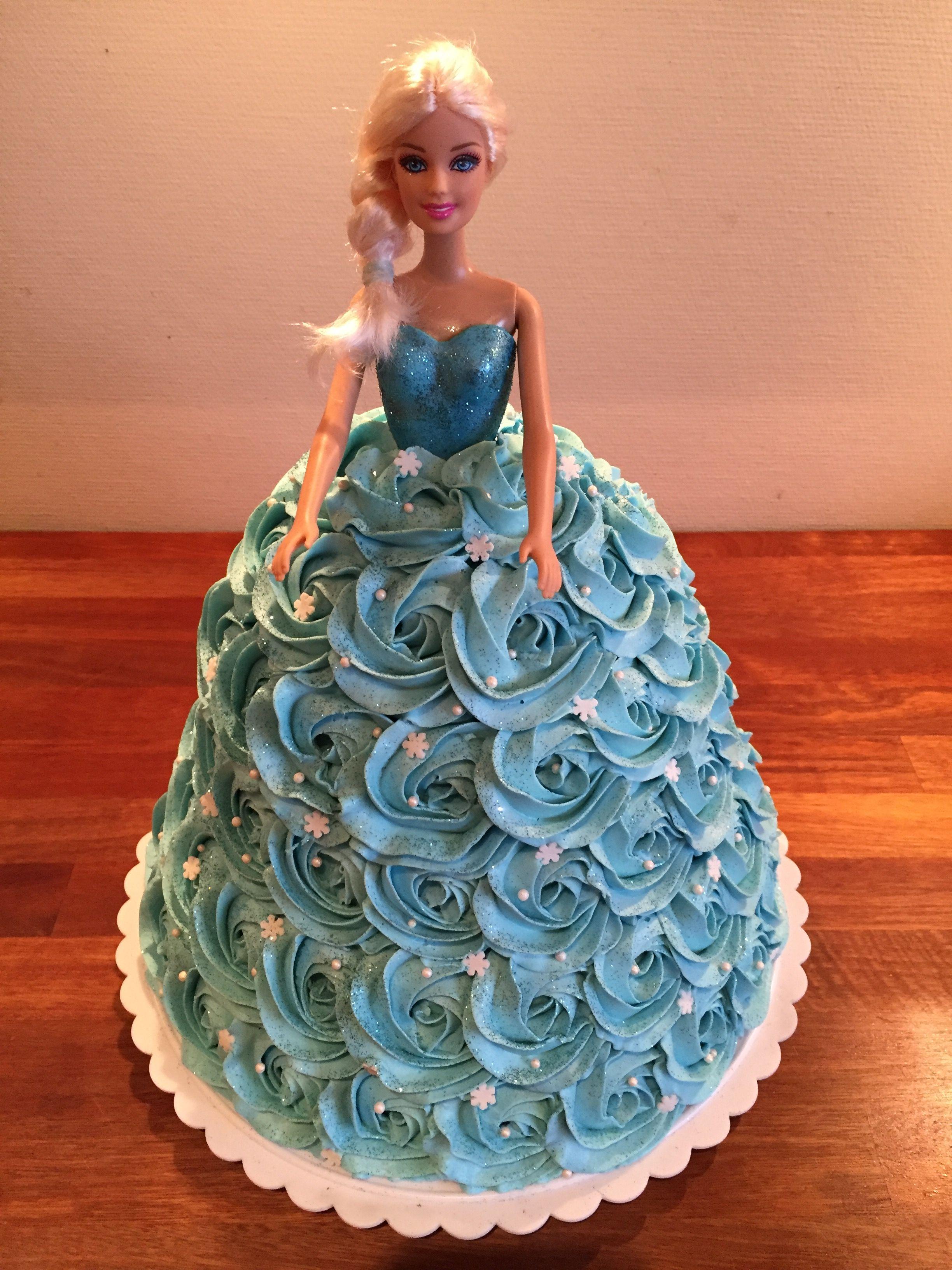 Elsa Dukke Kage Elsa Doll Cake Madisons 4th Bday Pinterest