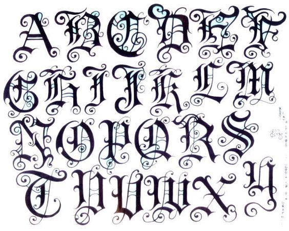 Old English tattoo | Pin Fancy Tattoo Fonts Old English Pinterest ...