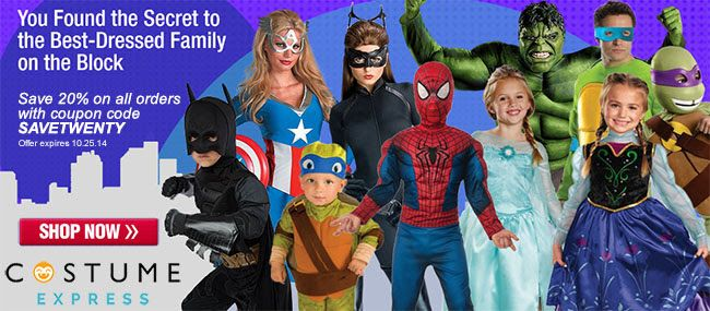 Outfit Your Family For Halloween With Costume Express 20 Percent Off Code Cool Halloween Costumes Halloween Costumes For Sale Halloween Costume Accessories
