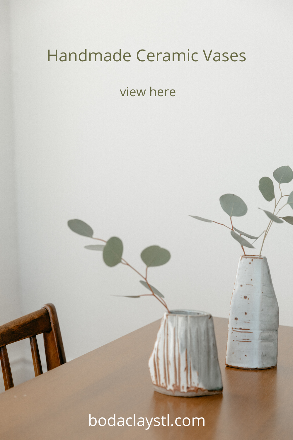 Our handmade ceramic vases make wonderful home decor for rustic or modern spaces. Display fresh or dried blooms to enrich your space. Bud vases are available now. #handmadevase #handmadeceramics