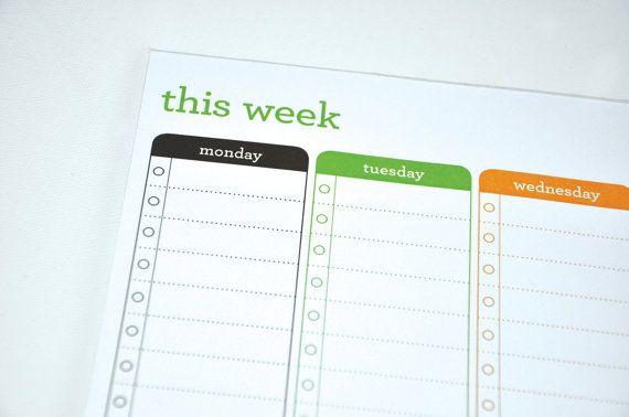 Printable Weekly Planner van PriscillaCreative op Etsy