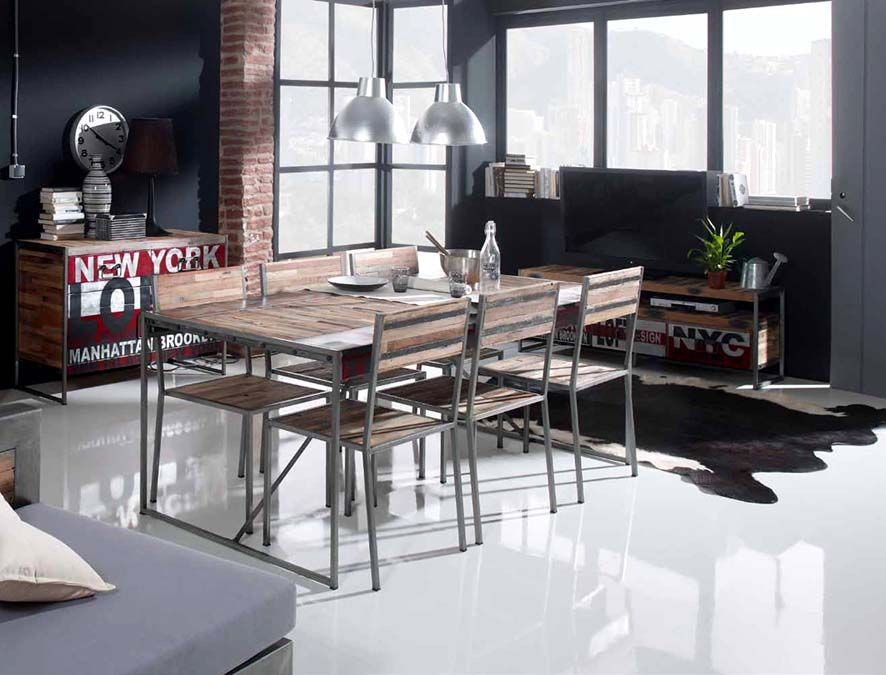 Mesas de diseño industrial colección URBAN FACTORY Decoración - mesas de diseo