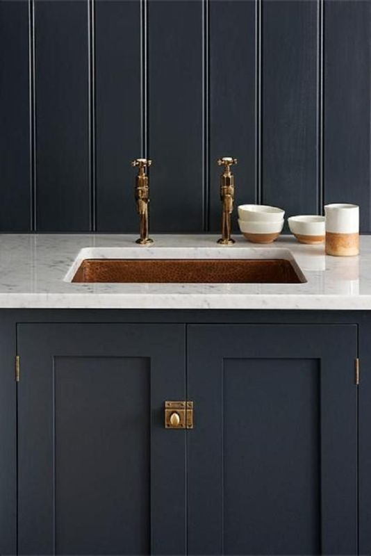 12 Marble And Brass Ideas Devol Shaker Kitchen Shaker